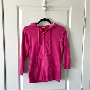 ALO YOGA / ZIP UP SWEATER HOT PINK
